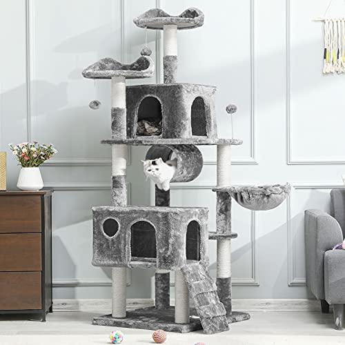 MSmask Kratzbaum groß, 175cm Kletterbaum für groß Katzen, Katzenbaum, Stabiler Kratzbaum Grosse Katzen...