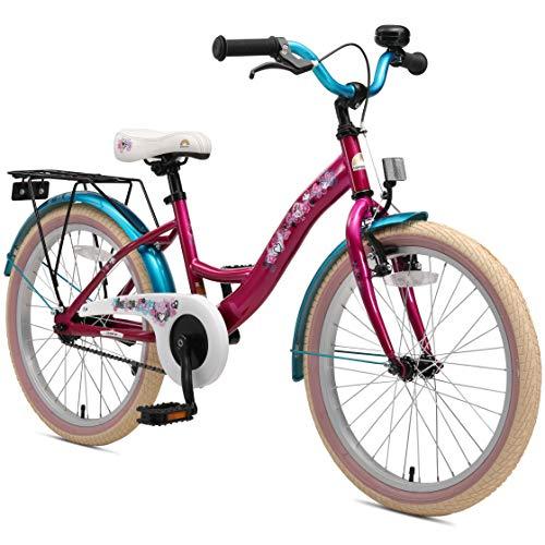 BIKESTAR Premium Sicherheits Kinderfahrrad 20 Zoll für Mädchen ab 6-7 Jahre ★ 20er Kinderrad Classic...