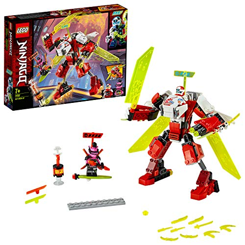 Lego 71707 NINJAGO Kais Mech Jet Flugzeug 2-in-1 Bauset, Prime Empire Rennaction