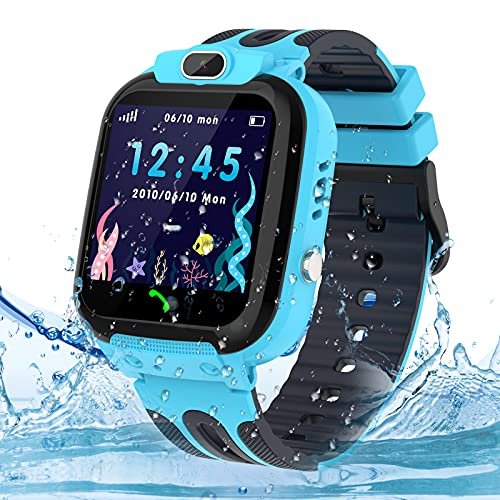 Smartwatch Kinder Uhr Tracker, Wasserdicht Kinder Smartwatch für Jungen und Mädchen, Kids Smart Watch...