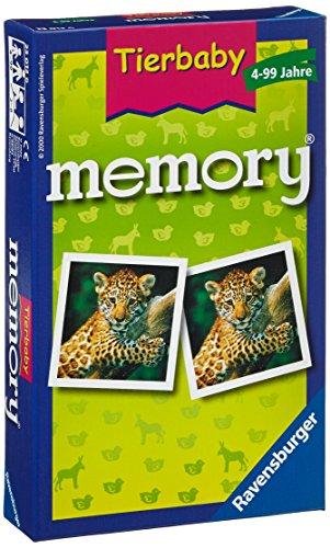 Ravensburger 23013 - Tierbaby Memory, der Spieleklassiker für Tierfans, Merkspiel für 2-8 Spieler ab 4...
