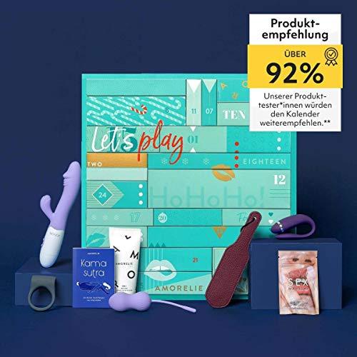 Amorelie Adventskalender 2021 Premium, Wert 477€, 24 Geschenke für Paare, Pärchen Advent-Kalender