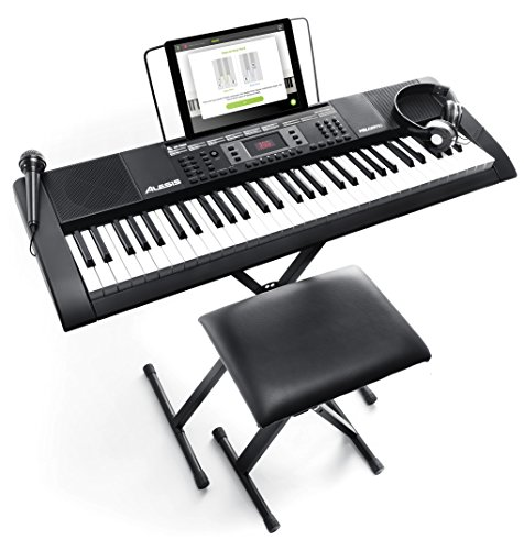 Alesis Melody 61 MKII Tragbares Keyboard, mit 61 Tasten und eingebauten Lautsprechern, Kopfhörern,...