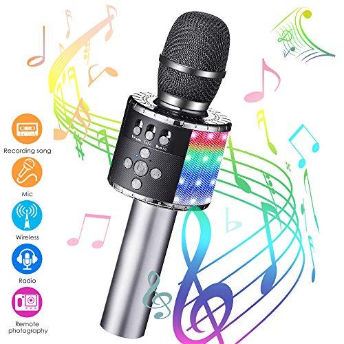 Karaoke Mikrofon bluetooth, GLIME Tragbare Drahtlose Mikrofon Stereo Player Multifunktionell Dynamisches...