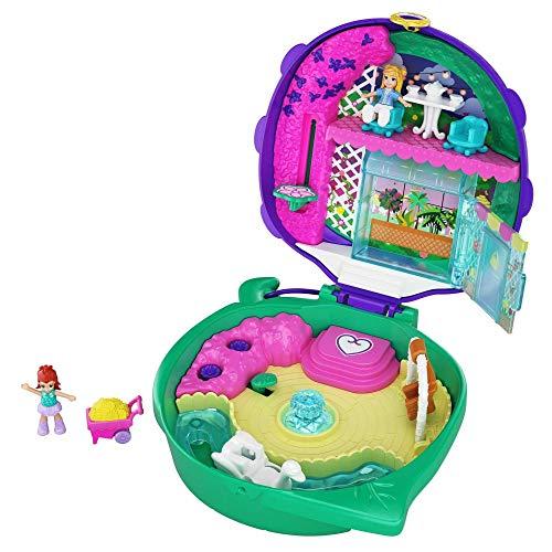 Polly Pocket GKJ48 - Marienkäfer Garten Schatulle mit 2 kleinen Puppen und Zubehör, Spielzeug ab 4...