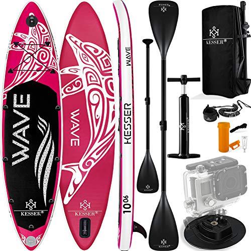 KESSER® Aufblasbare SUP Board Set Stand Up Paddle Board | 320x76x15cm 10.6' | Supboard Premium Surfboard...