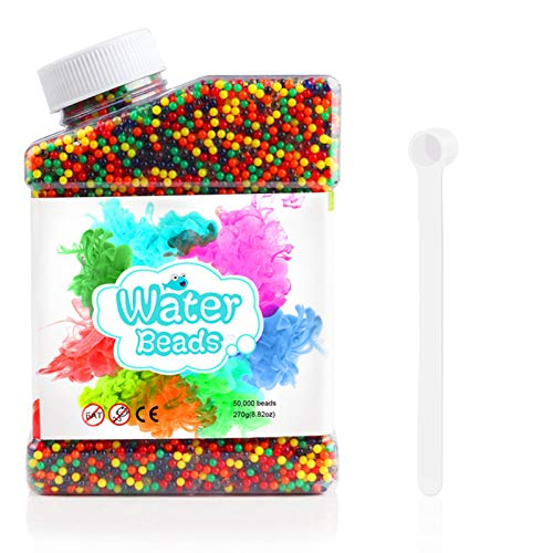 Oladwolf Wasserperlen, 50,000 Orbeez Wasserperlen für Kinder, Aqualinos Gelperlen Ungiftig, Wasserkugeln...