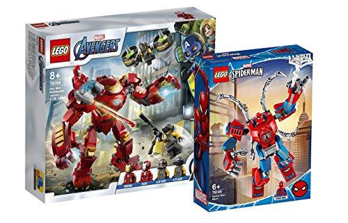 Collectix Lego Marvel - Set: Avengers 76164 Iron Man Hulkbuster vs. A.I.M.-Agent + Spiderman 76146...
