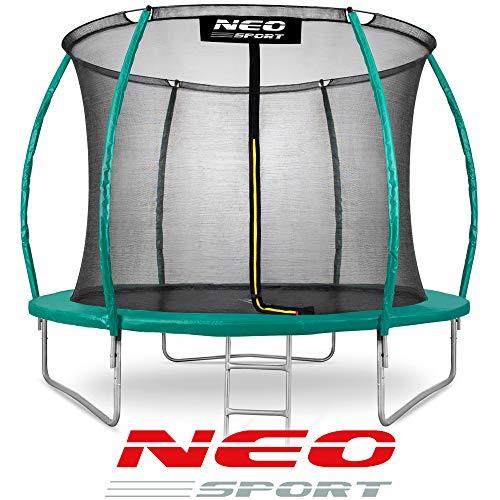 Neo Sport Gartentrampolin Trampolin 244 cm für Kinder Komplettset mit Innen-Sicherheitsnetz Leiter...