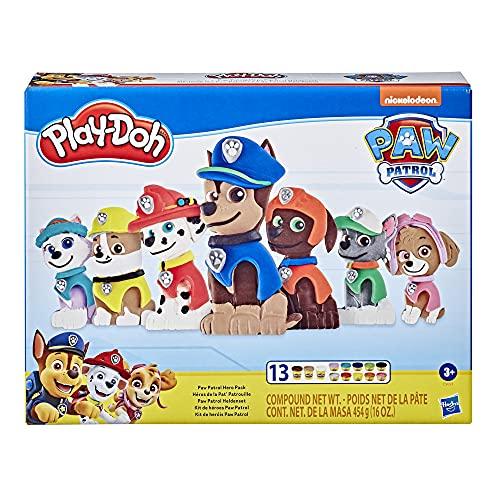Play-Doh E9097 PAW Patrol Heldenset Spielzeug für Kinder ab 3 Jahren mit 13 Farben