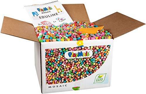 PlayMais EDULINE Mosaic Bastel-Set für Kinder ab 3 Jahren | Motorik-Spielzeug mit 12.000 50 Seiten...