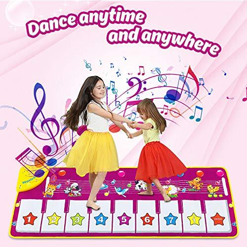 Dookey Piano Matte Tanzmatten Klaviermatte Musikmatte Kinder 8 Tierstimmen Klaviertastatur Spielzeug...