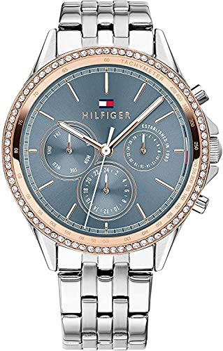 Tommy Hilfiger Damen Multi Zifferblatt Quarz Uhr mit Edelstahl Armband 1781976