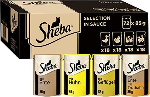Sheba Selection in Sauce – Katzenfutter mit Geflügel in Sauce für ausgewachsene Katzen – Multipack...