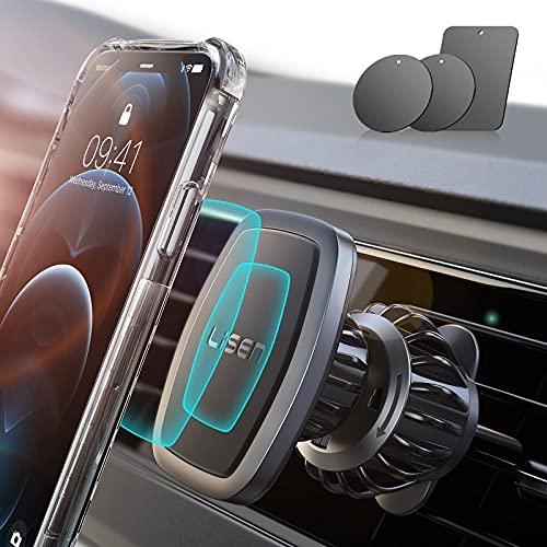 LISEN Handyhalterung Auto Magnet 2021 Upgraded Clamp Handyhalter Auto Zubehör Lüftung KFZ Handy...