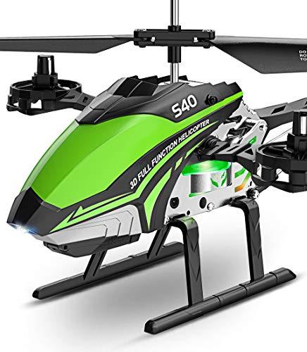 SYMA Hubschrauber ferngesteuert RC Helikopter Helicopter Flugzeug S40 Fernbedienung 4 Knäle 2.4 GHz LED...