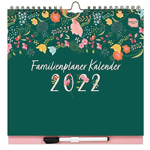 Boxclever Press Familienplaner Kalender 2021 2022. Familienplaner 2022 mit 6 Spalten. Wandkalender 2021...