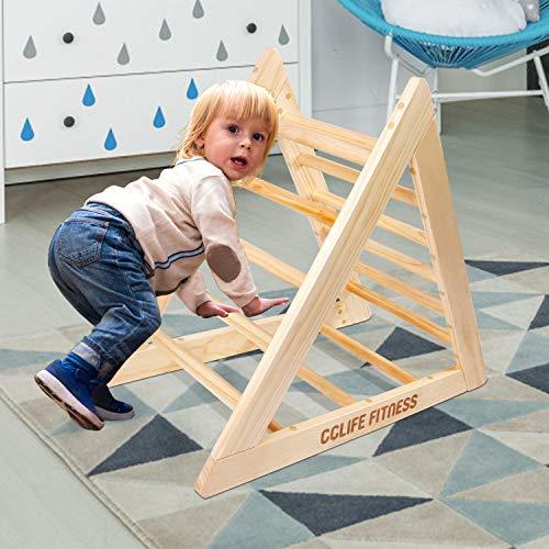 CCLIFE Kletterdreiecke nach Pikler Art Holz Indoor für Babys Kinder Kleinkinder Aktivspielzeug...