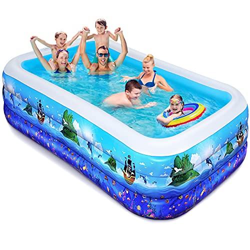 iBaseToy Aufblasbarer Pool - Groß Planschbecken für Kinder, Erwachsene, Babys und Kleinkinder, Family...