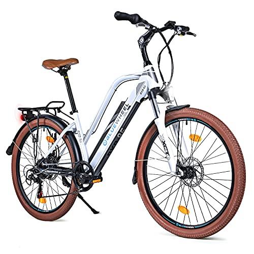BLUEWHEEL 26' innovatives Damen E-Bike I Deutsche Qualitätsmarke I EU konform Top City Ebike +...
