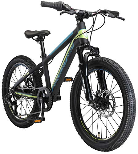 BIKESTAR Kinder Fahrrad Aluminium Mountainbike 7 Gang Shimano, Scheibenbremse ab 6 Jahre | 20 Zoll...