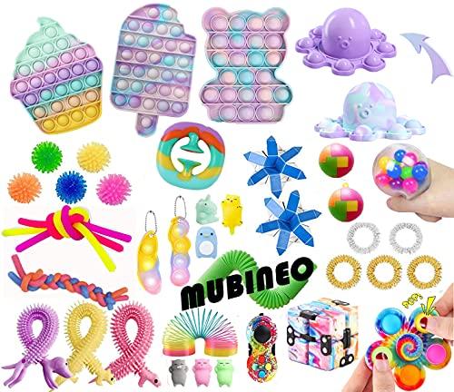 Fidget Toys Set Sensory Toys Pack Fidget Spielzeug Set Sinnes Spielzeug Packung mit Pop Spielzeug für...