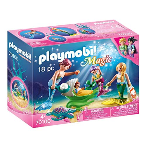 Playmobil 70100 Magic Familie mit Muschelkinderwagen, bunt