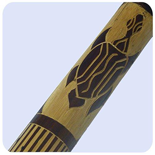 Regenmacher Rainstick Rainmaker Bambus Percussion Rhythmus Regenrohr Aborigine geschnitzt (60 cm)