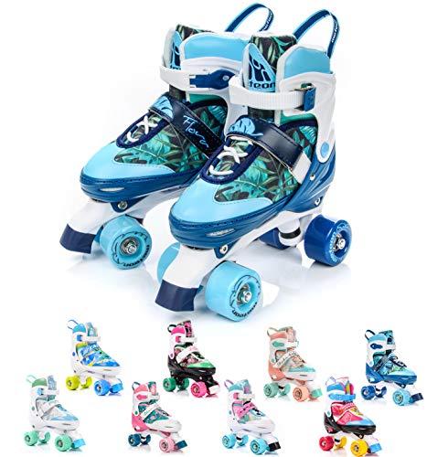 meteor® Retro Rollschuhe: Disco Roller Skate wie in den 80er Jahren, Jugend Rollschuhe, Kinder Quad...