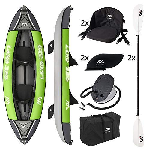 Aquamarina Unisex– Erwachsene 2 Posti Kayak Laxo-320 Kajak, Grün Schwarz, Uni
