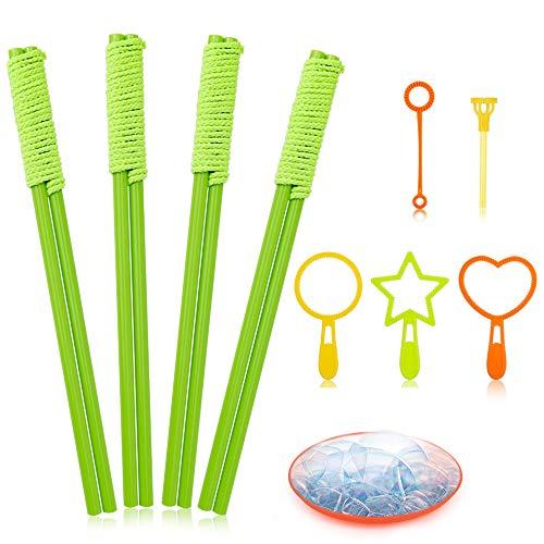 E-KNOW 10 Pack Seifenblasen-Stab Riesenseifenblasen für Seifenblasen Partei-Garten Spielzeug Outdoor...