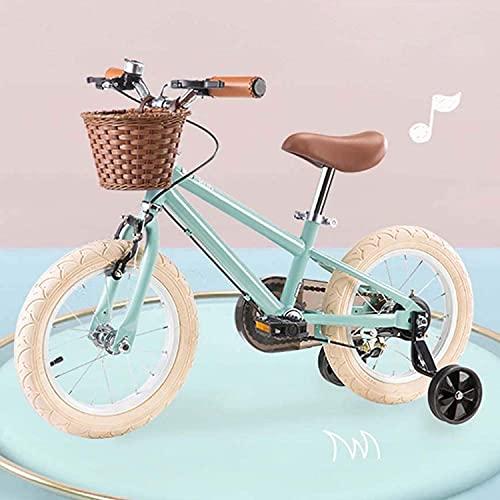 Vintage Kinderfahrrad, Kleinkind Kinder-Fahrrad Mit Stützrad, Für Kinder Ab 3-8 Jahre Alt Mädchen &...