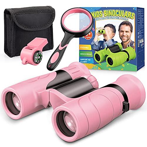BOXYUEIN Mädchen Geschenke 4-12 Jahre, Fernglas Kinder Spielzeug Mädchen 3 4 5 6 7 8 9 10 Jahre Kompass...