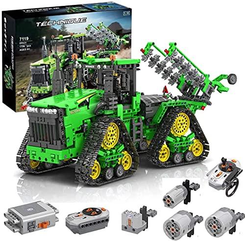 SaiKer Technik Ferngesteuert Traktor, Technik Groß Motorisierter Traktor Modell für John Deere 9620 RX,...