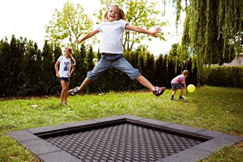 Eurotramp® Kids-Bodentrampolin Playground, Sprungtuch eckig