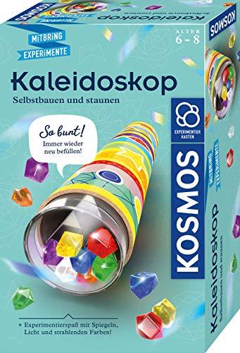 KOSMOS 657987 Kaleidoskop, Selbst bauen und staunen, Experimentier-und Bastel-Set mit Spiegeln, Licht und...