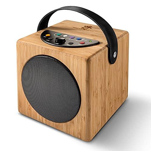 KidzAudio Badoo - der Mobile Kinder-Lautsprecher und MP3-Player aus Holz mit eingebautem Mikrofon und...