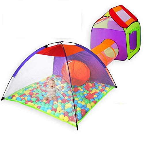 KIDIZ® Spielzelt Spielhaus Babyzelt 200 Bälle Bällebad Kinderzelt | Ideal für Zuhause & im Garten |...