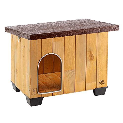 Ferplast Baita 60 Outdoor-Hundehütte, hochwertige und umweltfreundliche Hundehütte aus FSC Holz,...