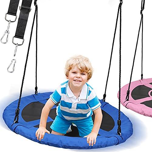 Physionics® Nestschaukel - Outdoor/Indoor, bis 300kg belastbar, Ø 100cm, für Kinder/Erwachsene, Oxford...