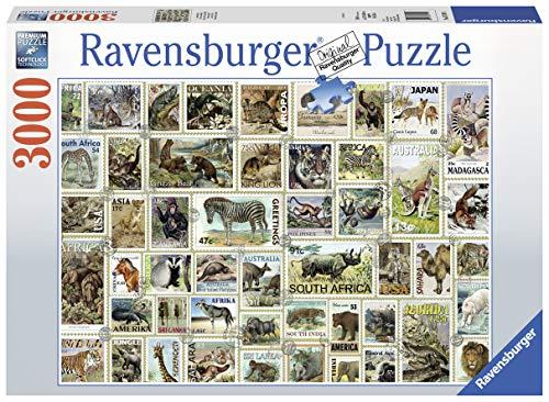 Ravensburger Puzzle 17079 - Tierbriefmarken - 3000 Teile
