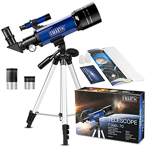 Teleskop für Kinder und Einsteiger für Beobachtung von Himmel und Landschaft- 70mm fernrohr Teleskop...