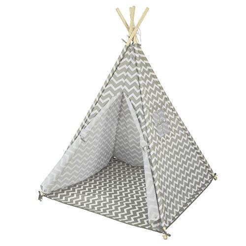 SoBuy OSS03 Tipizelt Spielzelt Zelt für Kinder mit 1 Tür und 1 Fenster Spielhaus Kinderzelt Indianer...