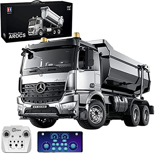 s-idee® E590-003 Mercedes Arocs Rc Dump Truck Metall Kipper 1:20 LKW 10 Kanal Kipplader Double E CADA...