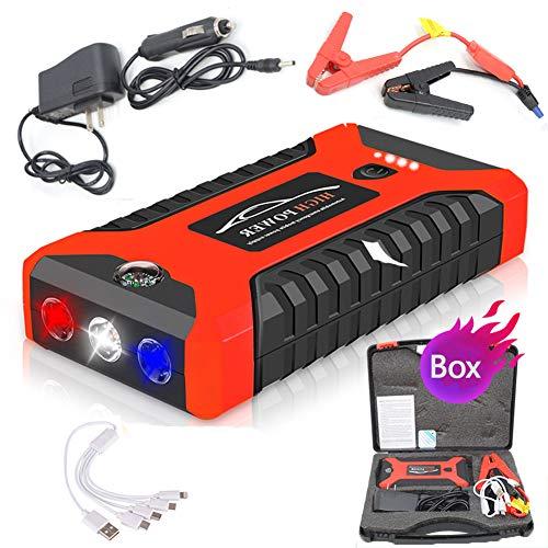 EU Notfall-Autobatterie Starthilfe-Kit tragbar 20000mAh Power Bank Startger/ät Ladeger/ät 110-240V EBTOOLS Auto-Starthilfe tragbar