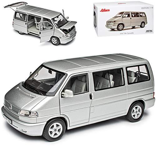 Volkwagen T4 B Caravelle Bus Personen Transporter Silber 1990-2003 1/18 Schuco Modell Auto mit...