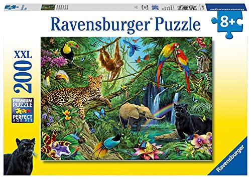 Ravensburger Kinderpuzzle - 12660 Tiere im Dschungel - Tier-Puzzle für Kinder ab 8 Jahren, mit 200...