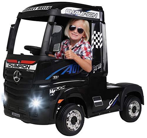 Actionbikes Motors Kinder Elektroauto Mercedes Benz Actros Truck LKW - Lizenziert - 4 x 45 Watt Motor -...