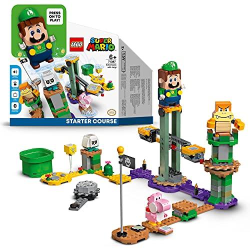 LEGO 71387 Super Mario Abenteuer mit Luigi – Starterset, Spielzeug mit Einer interaktiven Figur,...