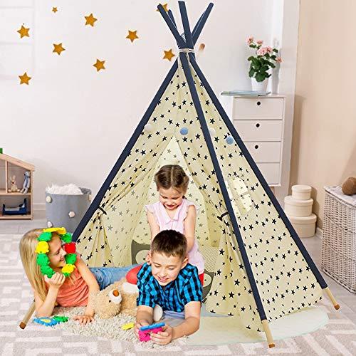 YOLEO Tipi Spielzelt für KinderIndianerzelt Kinderzelt, Kinderzimmer Zelt, Spielhaus Zelt für Drinnen...